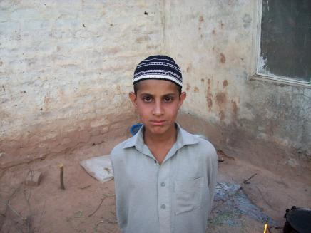 A boy from Pakistan's Swat valley now resides an an abandoned building outside Islamabad